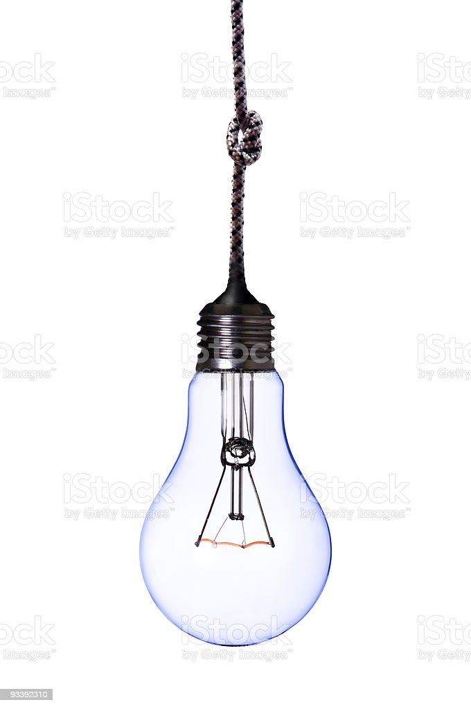 lamp bulb with cord royalty-free stock photo