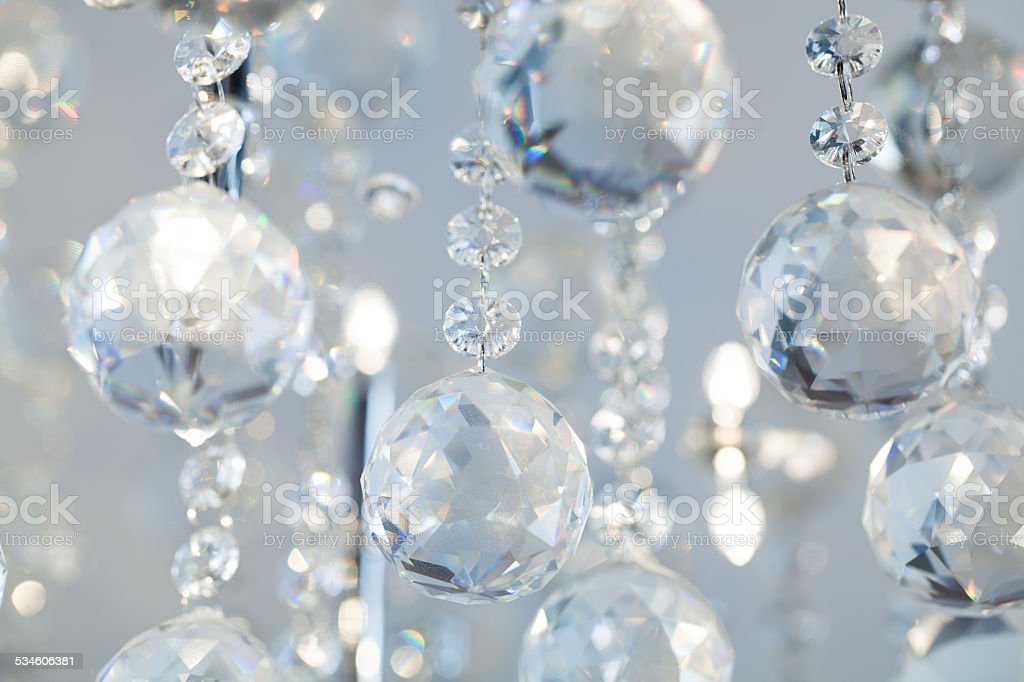 Lamp crystal light background stock photo