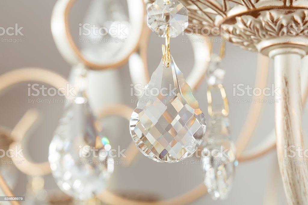 Lamp crystal light background stock photo