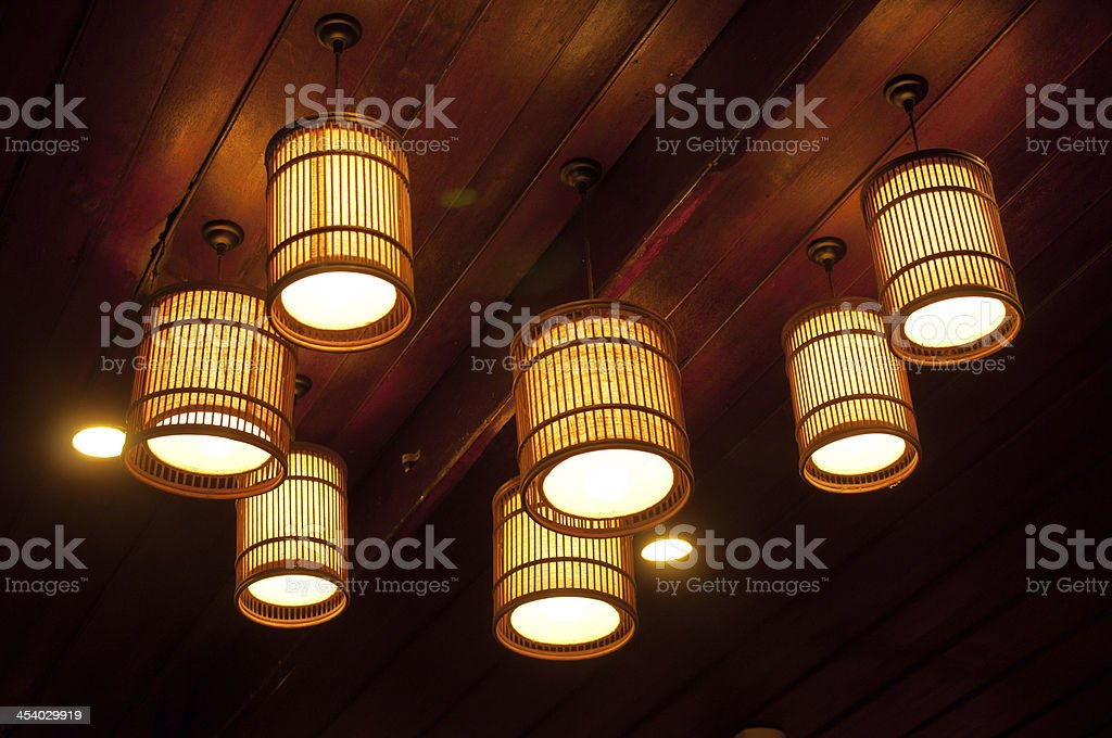 lamp design for decorated stock photo