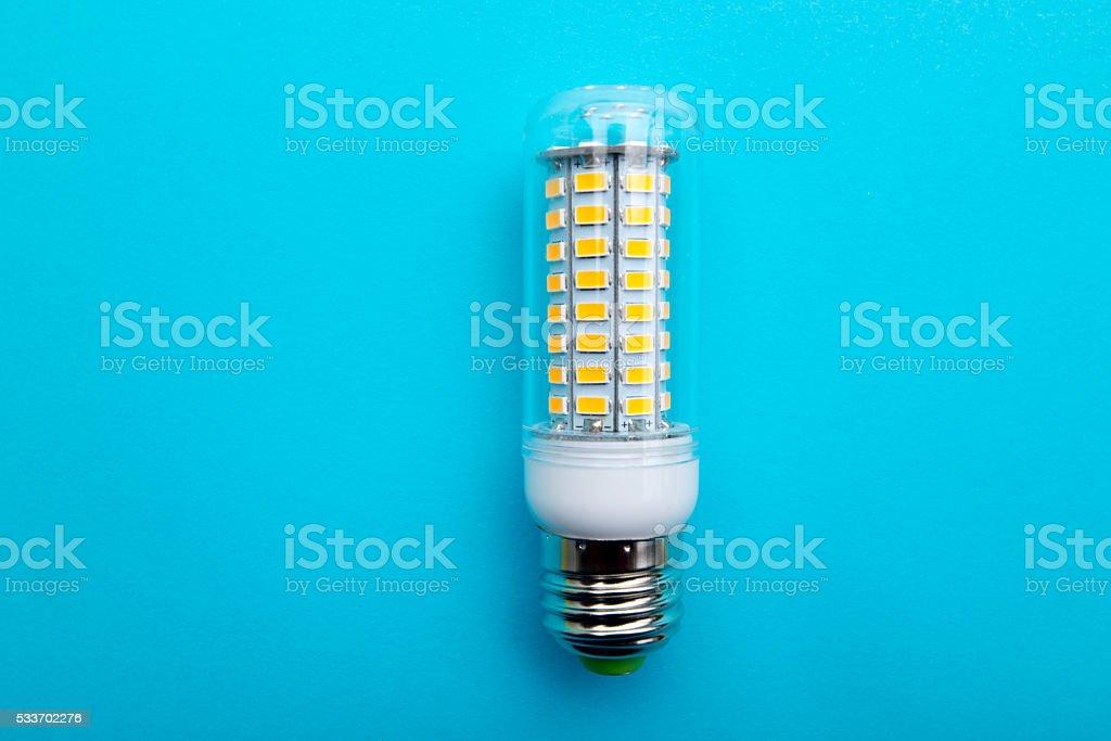 LED lamp E27 SMD Corn Bulb light Spotlight stock photo