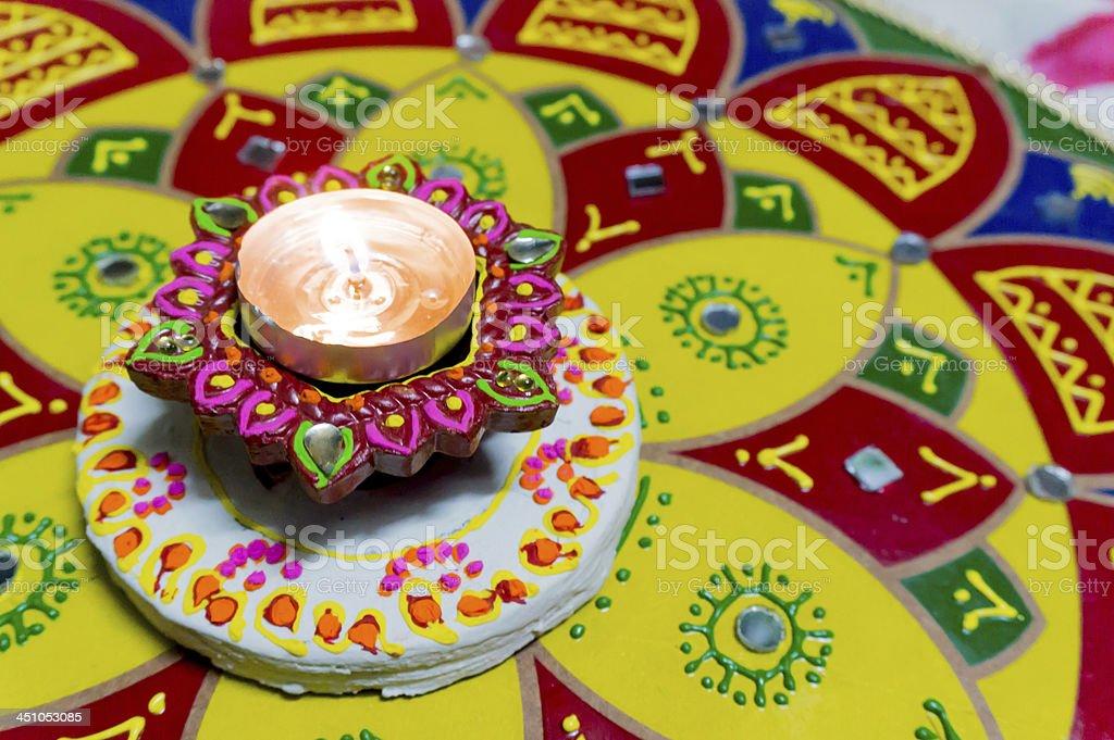 Lamp (diya) for diwali stock photo