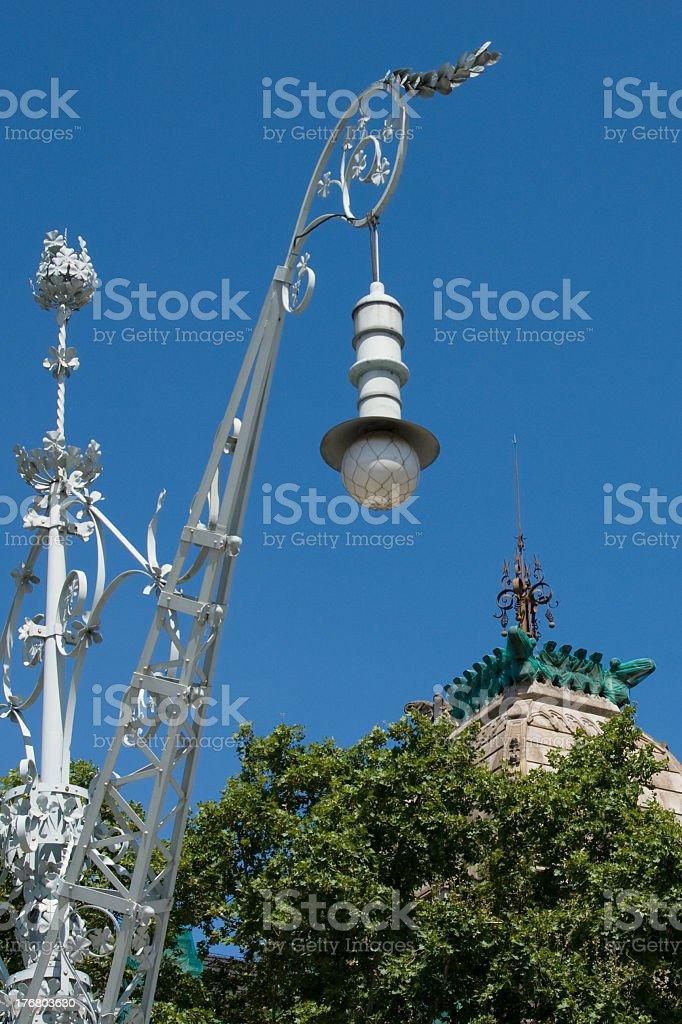 'Lamp in Citadel Park, Barcelona, Spain' stock photo