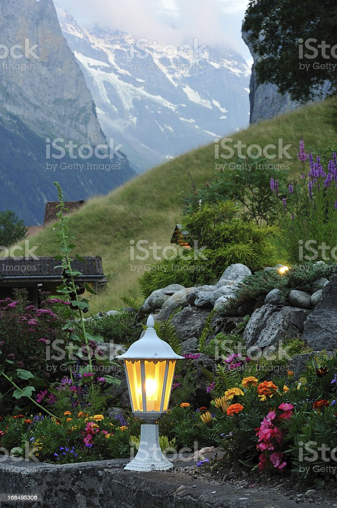 Lamp in Garden royalty-free stock photo