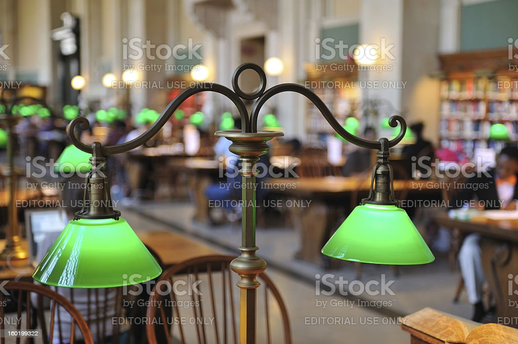 Lamp in Library royalty-free stock photo