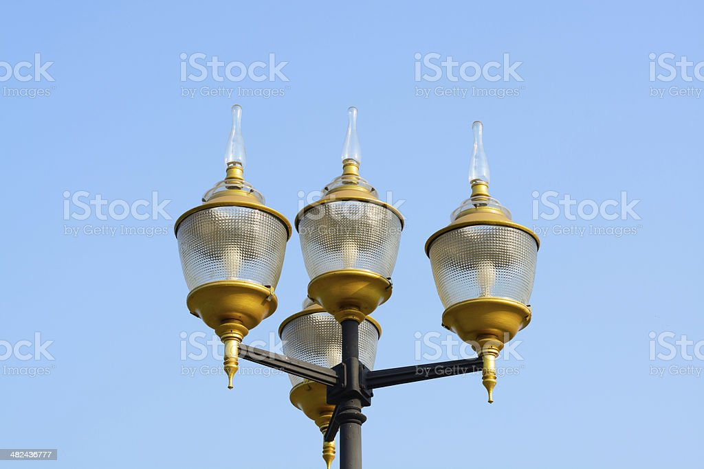 lamp in park royalty-free stock photo