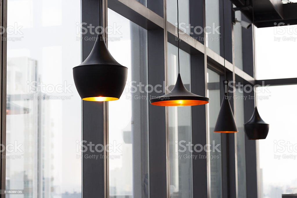 lamp interior home design stock photo