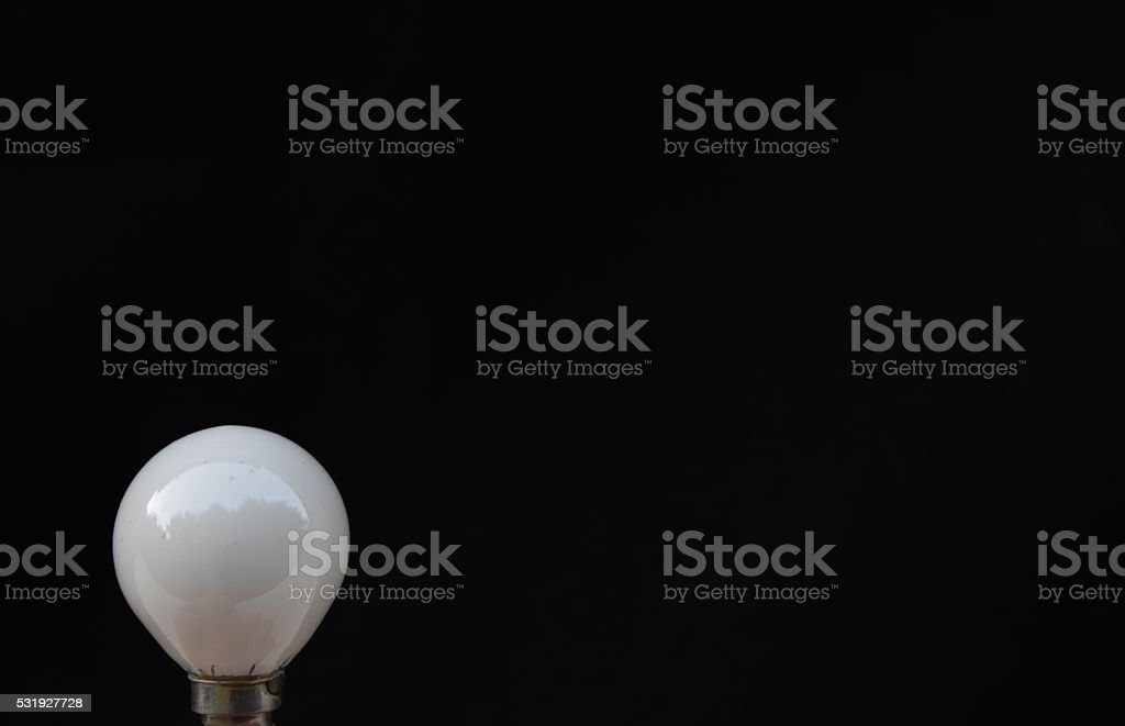 Lamp isolated on black stock photo