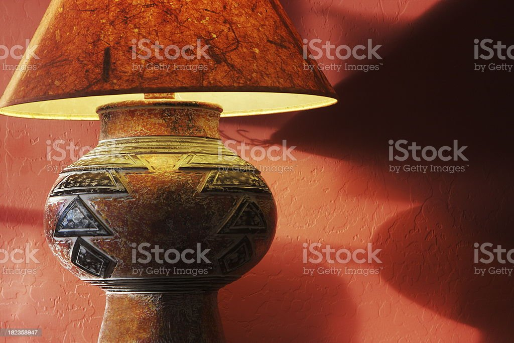 Lamp Lampshade Home Decor royalty-free stock photo