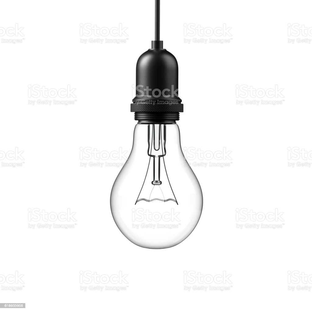 Lamp light bulb. 3D illustration stock photo