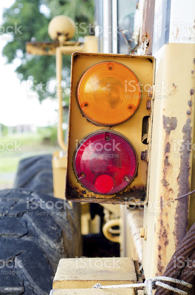 lamp of farm tractor royalty-free stock photo