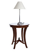 Lamp on Table (Isolated)