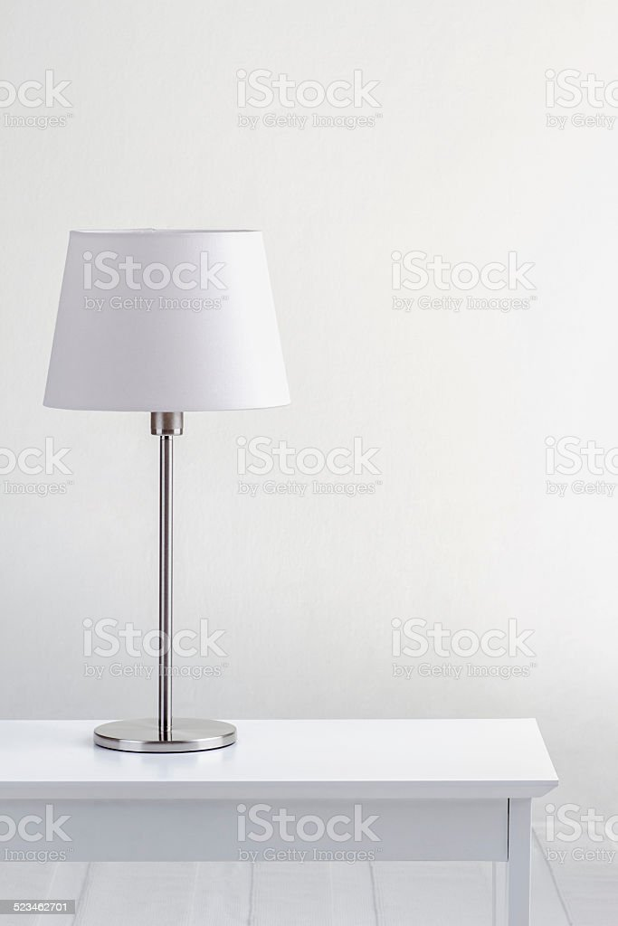 lamp on the table stock photo
