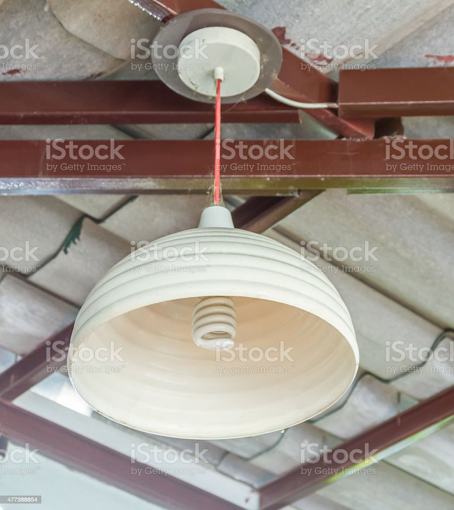 Lamp on the wall  background. stock photo