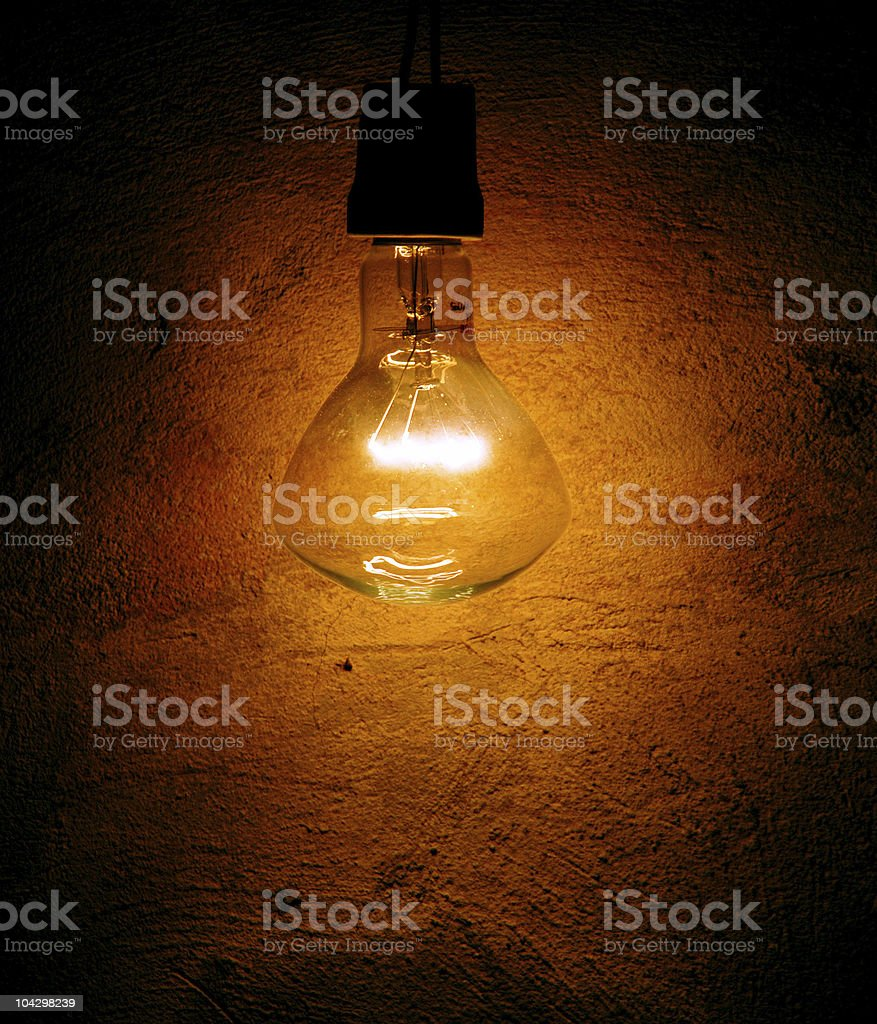 lamp on the wall royalty-free stock photo