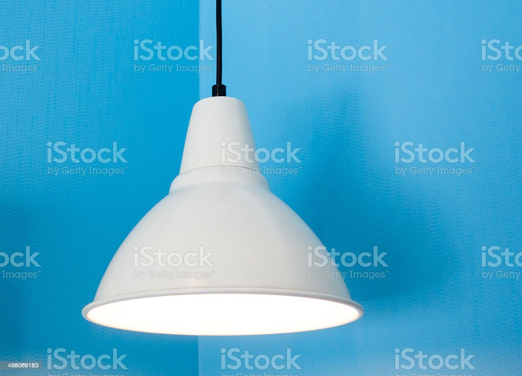 Lamp opening in the room stock photo
