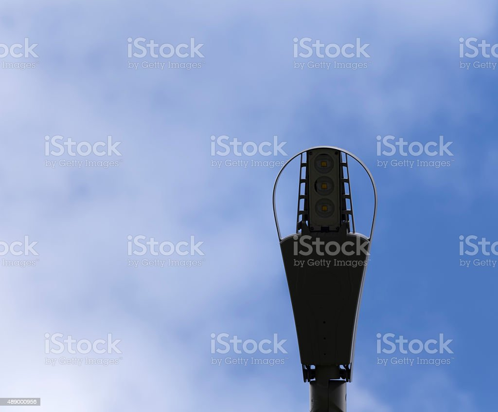Lamp post and sky stock photo
