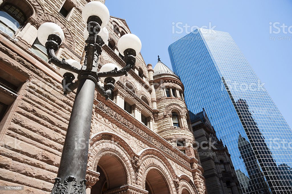 Lamp Post At The Old City Hall stock photo