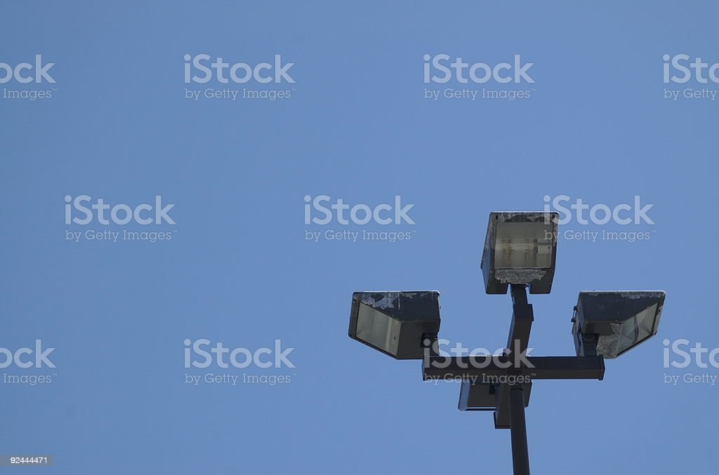 Lamp post flood lights royalty-free stock photo