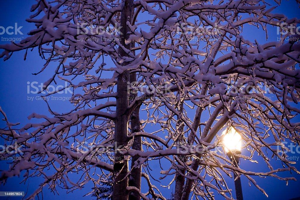 lamp post glow royalty-free stock photo