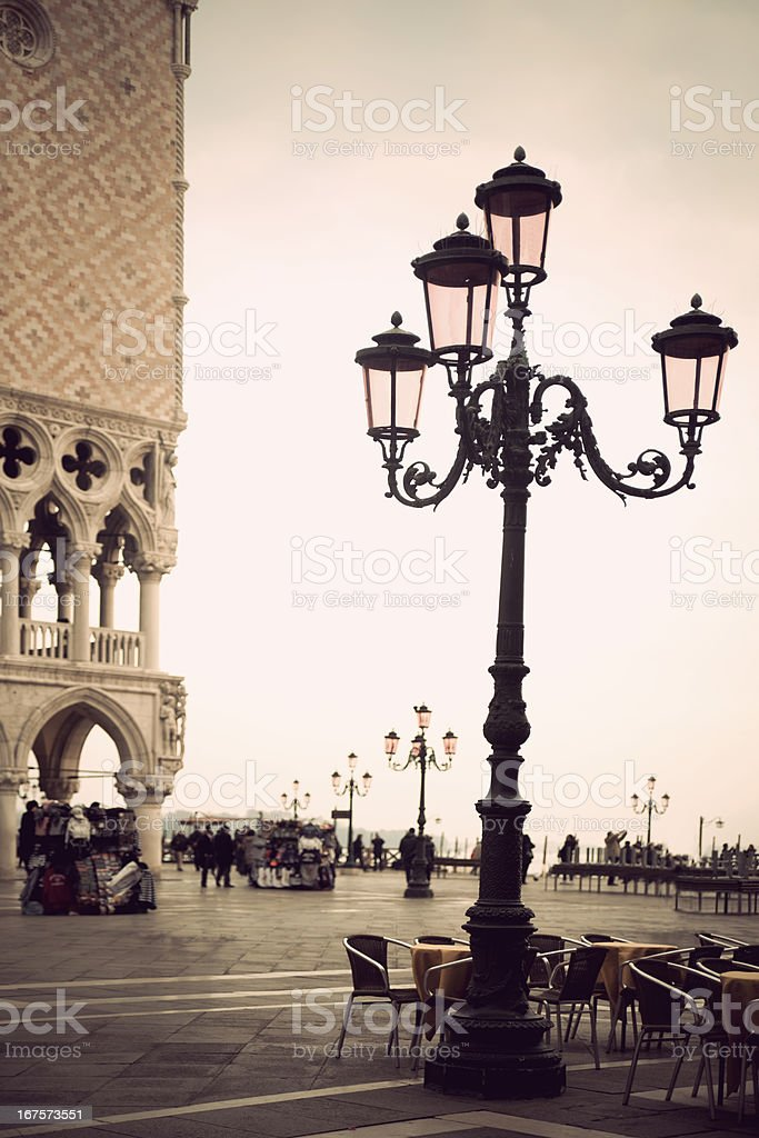Lamp post in venice royalty-free stock photo
