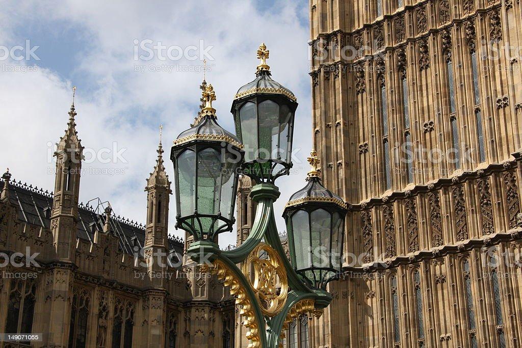 Lamp post near Parliament royalty-free stock photo