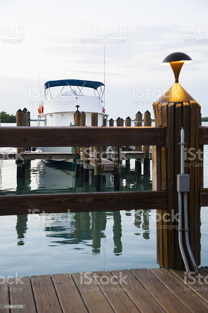 Lamp Post on  The Dock royalty-free stock photo