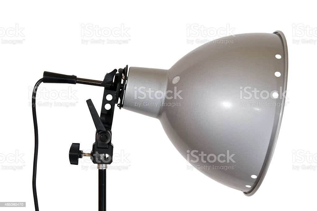 Lamp reflector on white side stock photo