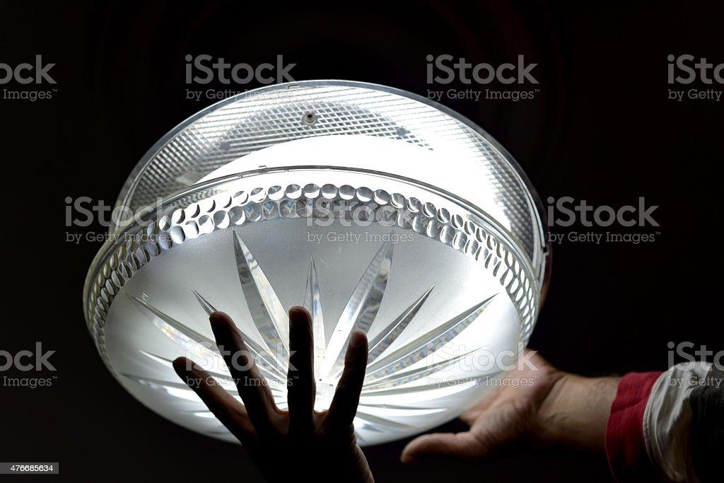 lamp repair stock photo