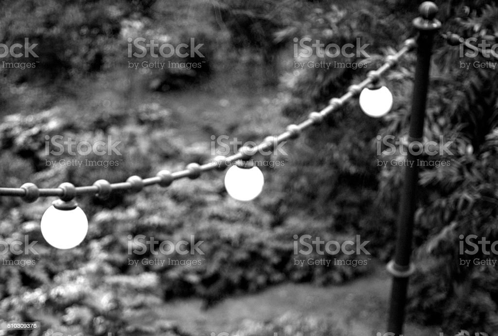 Lamp shades in the Park stock photo