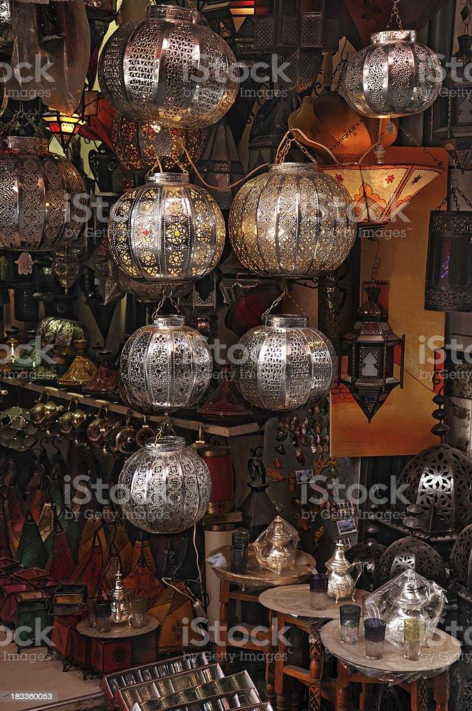 Lamp shop stock photo