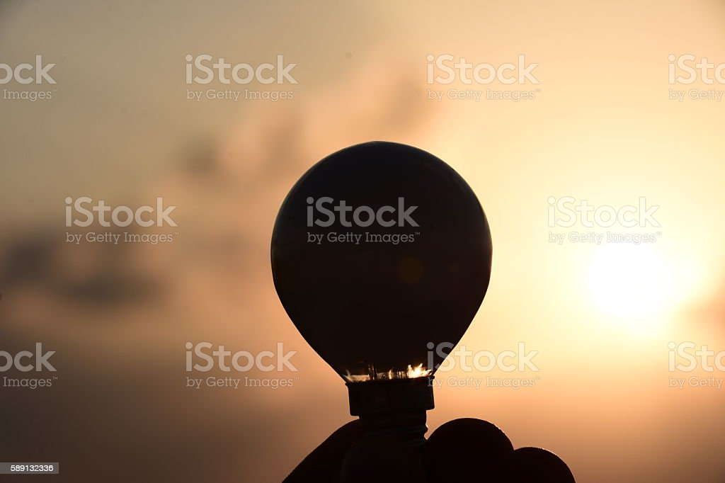 Lamp Silhouette stock photo