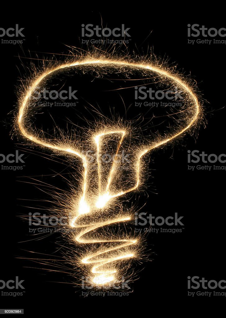lamp sparkler royalty-free stock photo