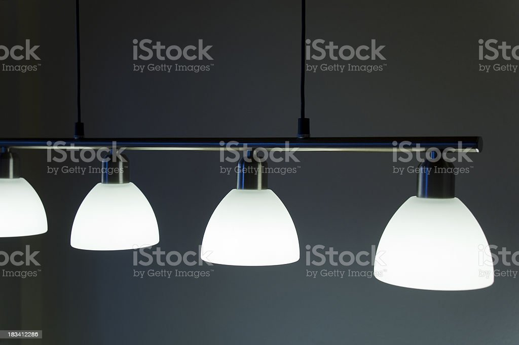 Lamp stand in door stock photo