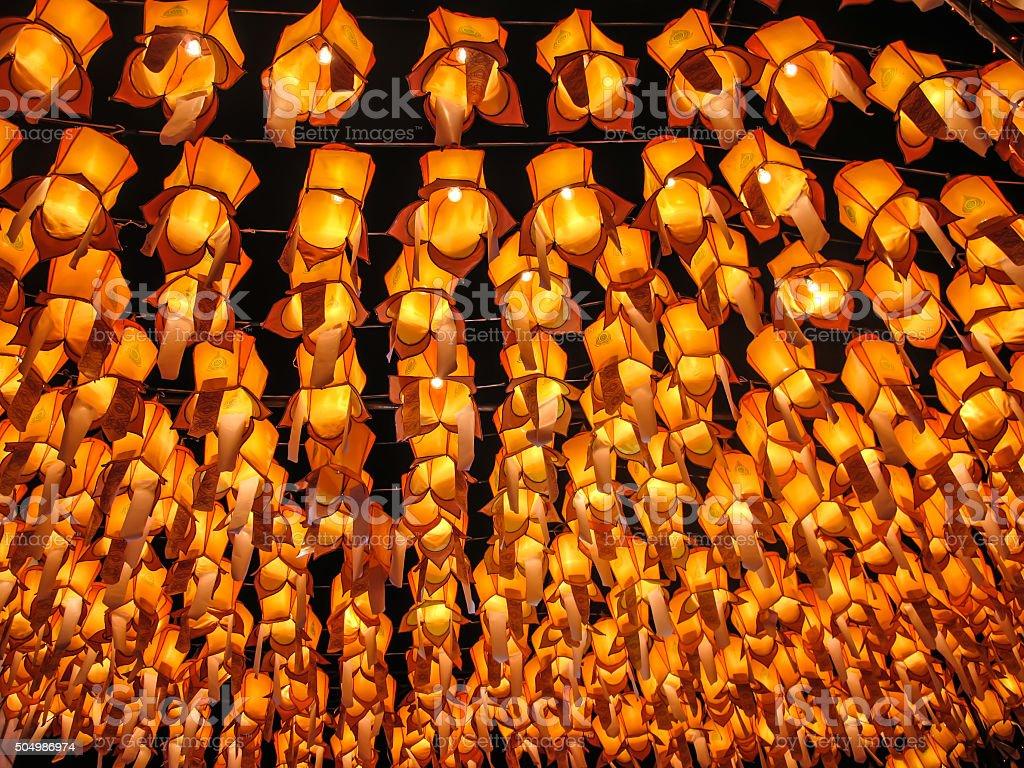 Lamp Thai stock photo