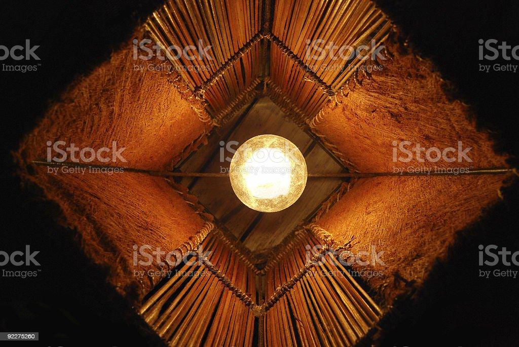 Lamp top view stock photo