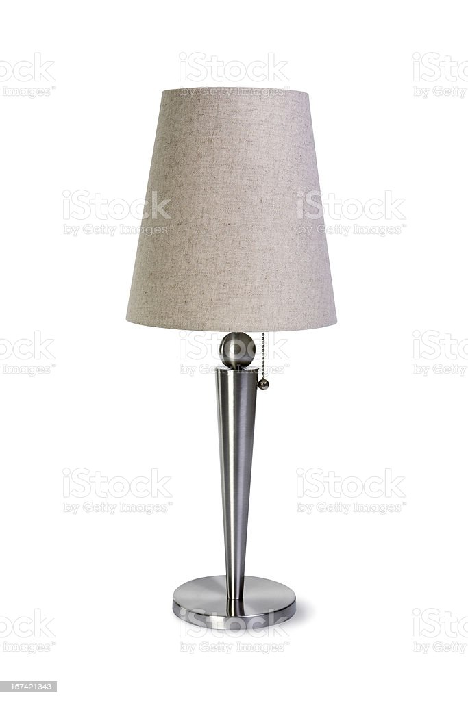 Lamp with Clipping Path royalty-free stock photo