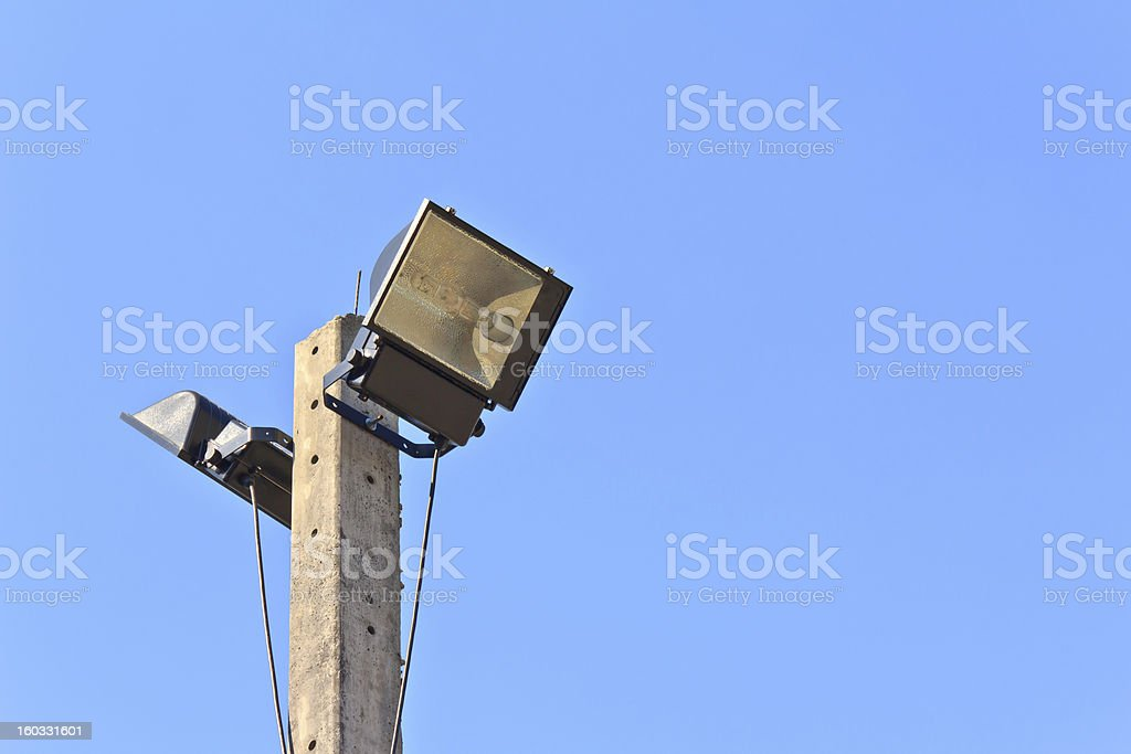 Lamp with royalty-free stock photo