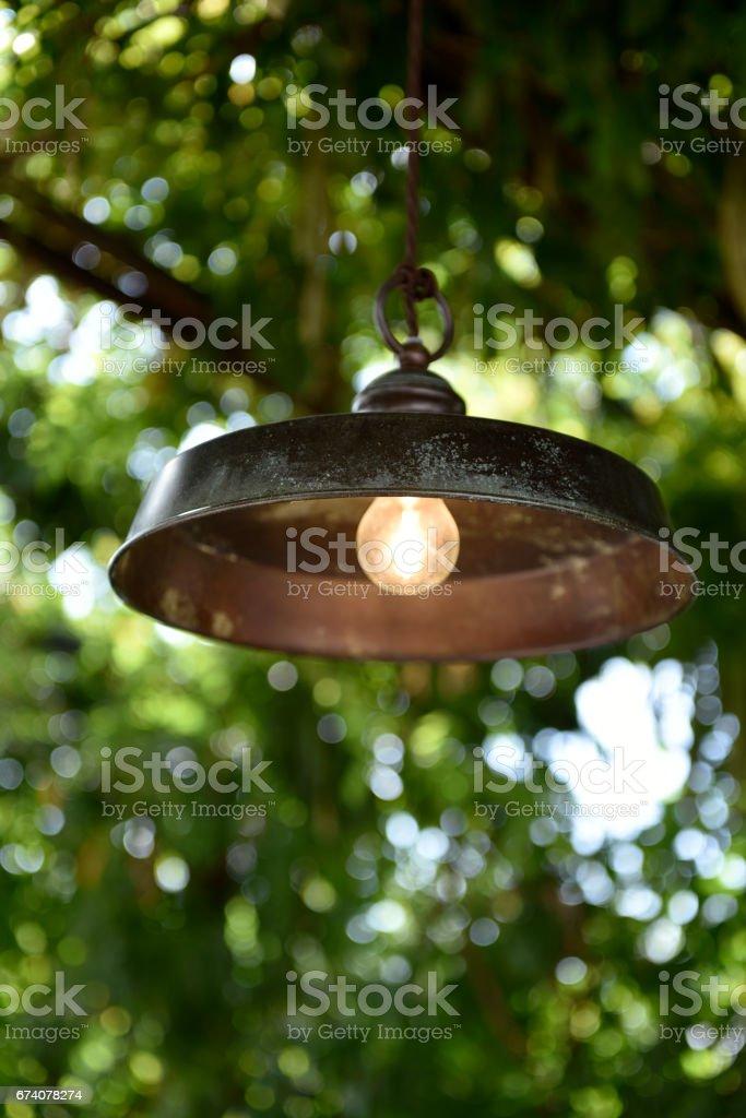 lampada da esterno stock photo