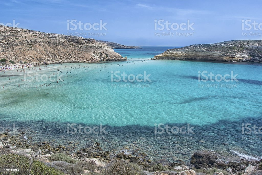lampedusa stock photo
