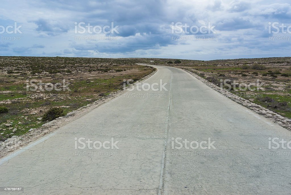 lampedusa road stock photo