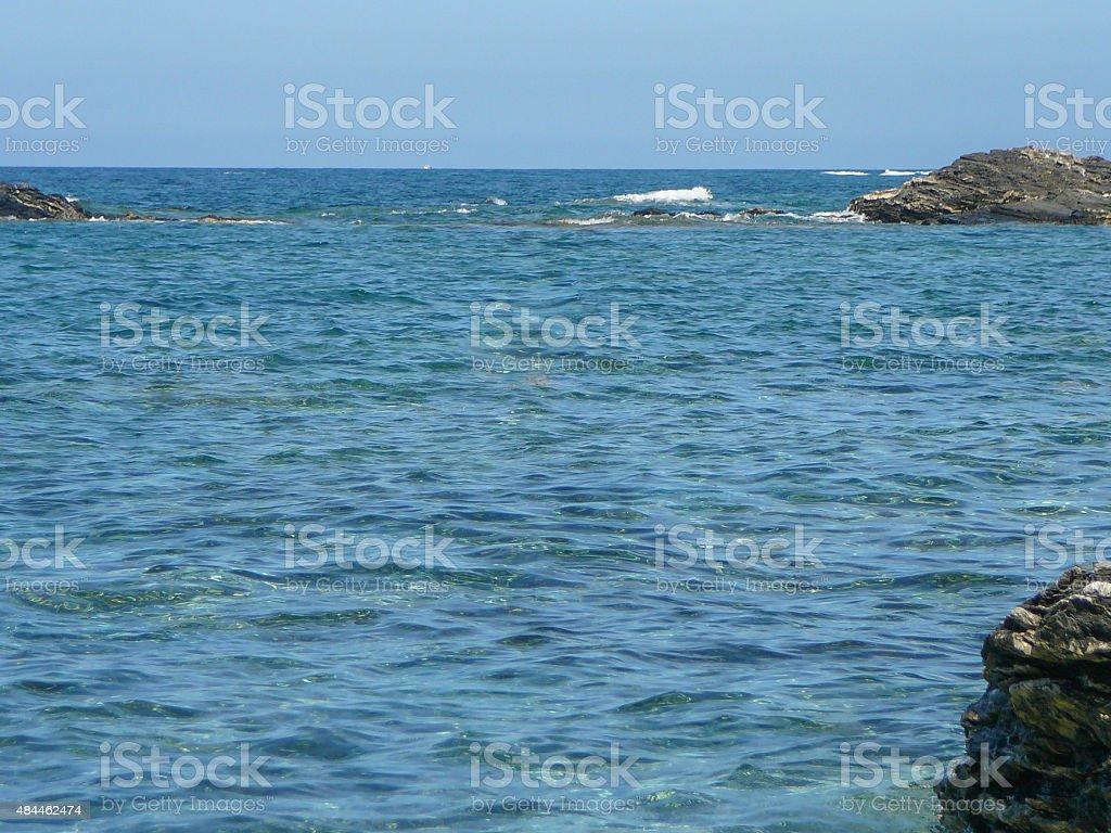 Lampianu sea stock photo