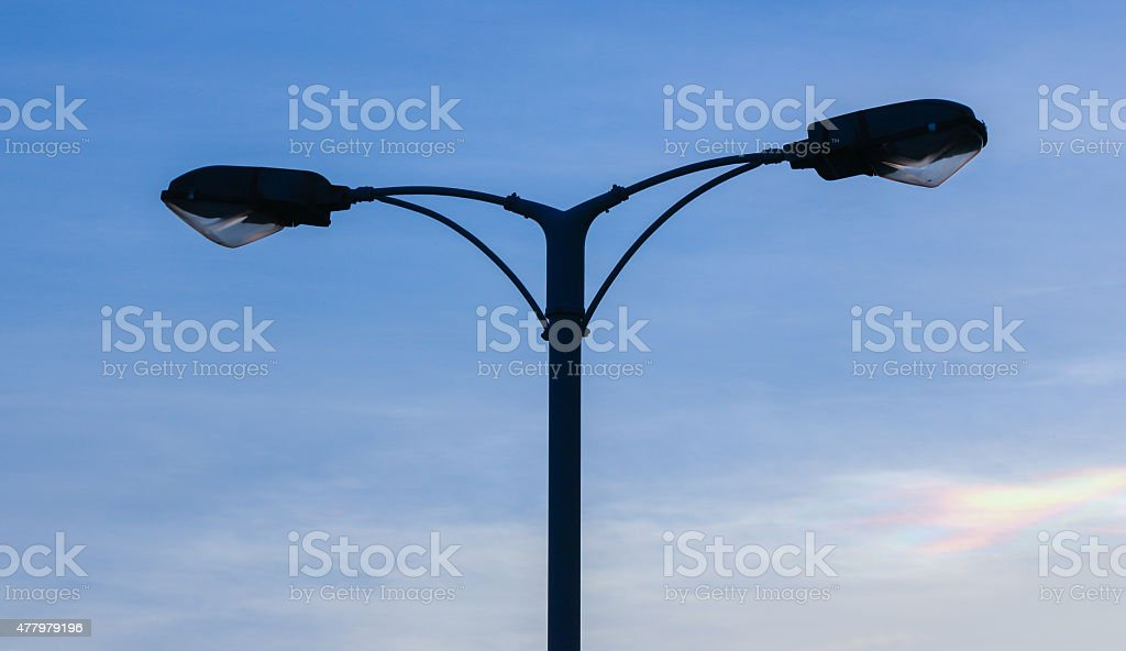 Lamping Pole stock photo