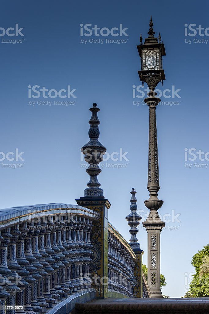 Lamppost and banisters royalty-free stock photo