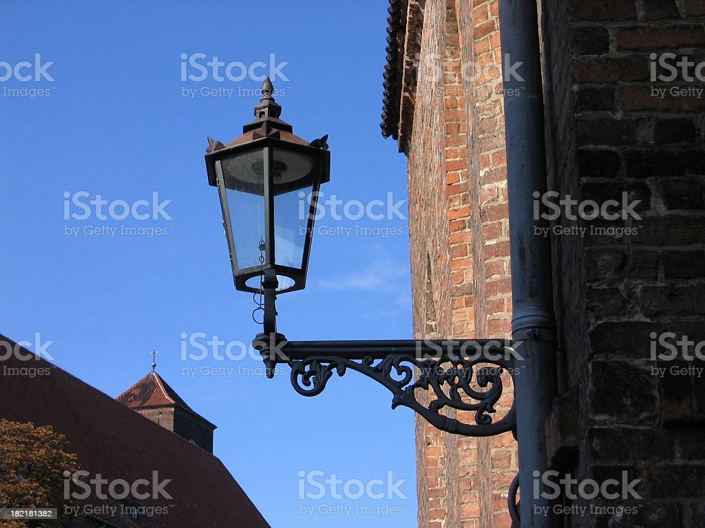 Lamp-post in Wroclaw stock photo