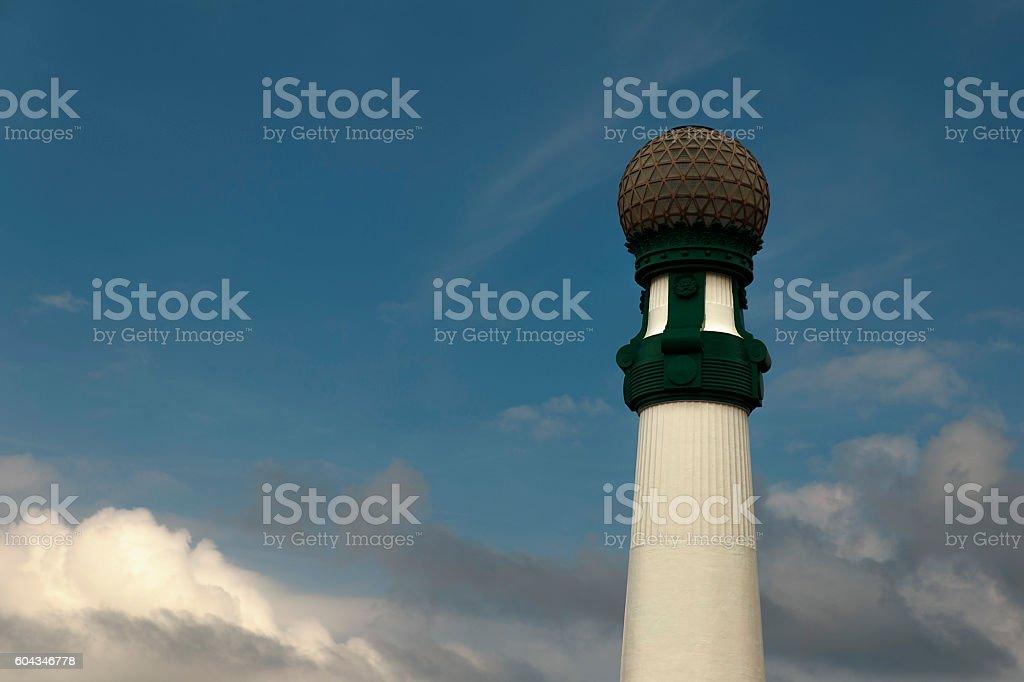 lamppost-donostia stock photo