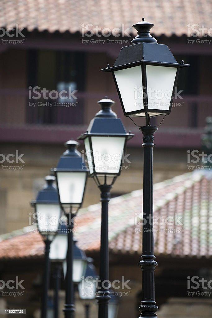 Lampposts stock photo