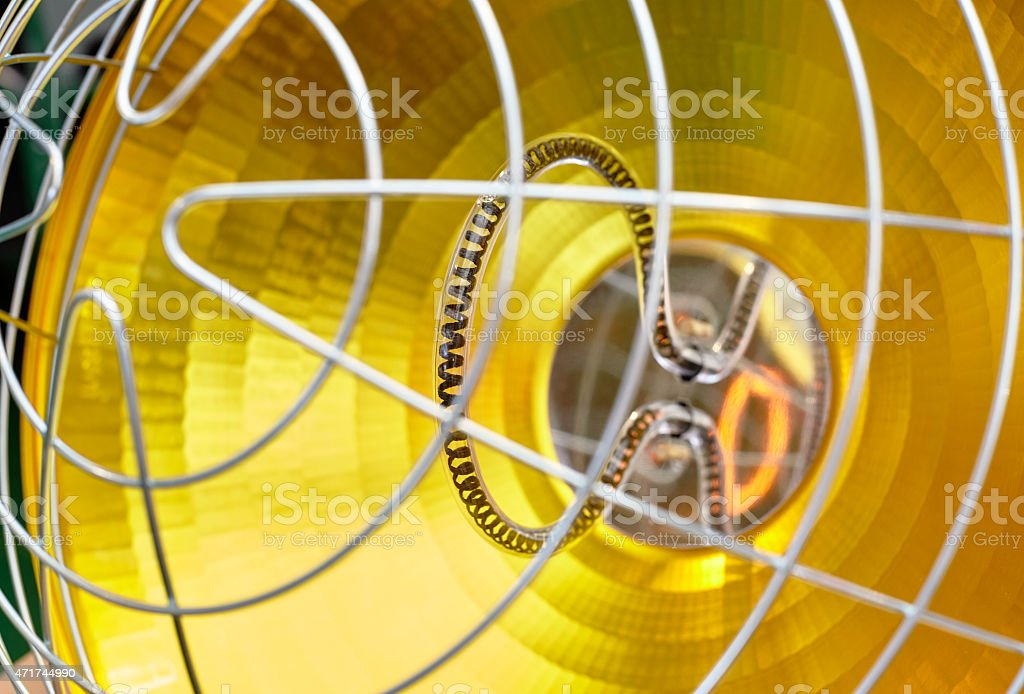 lamps for poultry stock photo