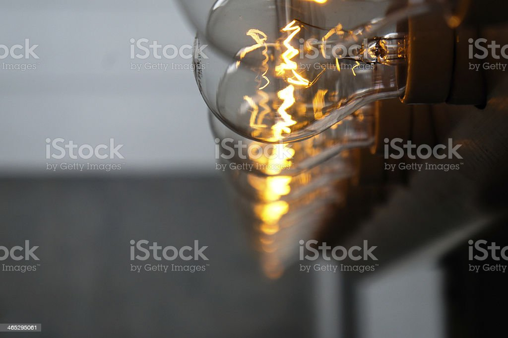 Lamps in a row royalty-free stock photo