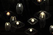 Lamps in bar